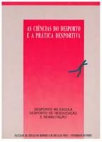 As Ciências do desporto e a prática desportiva...vol1